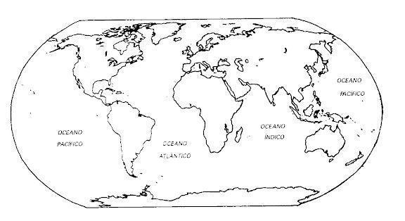 Mapamundi Con Los Continentes Para Pintar Imagui